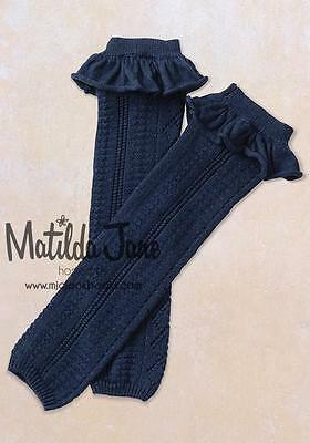 Matilda Jane JULEP Sweater Leg Warmers FRIENDS FOREVER Navy Blue ~  OS NWT tt
