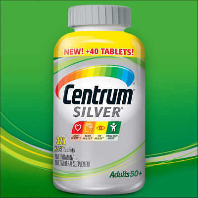 Centrum Silver For Adults 50+ 285 Tablets. Multivitamin Multimineral. Exp 2018