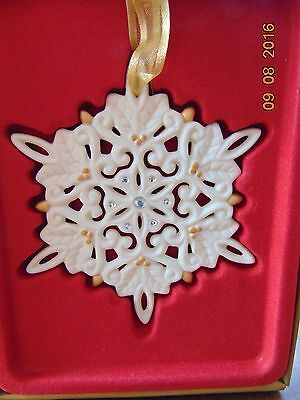 "Wedgwood: Christmas Ornament, ""JEWELED SNOWFLAKE ORNAMENT"" NRFB NIB 5802008032"