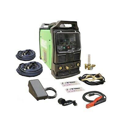 PowerTIG 210EXT 110v /220v 200AMP ACDC TIG STICK ADVANCE PULSE WELDER EVERLAST