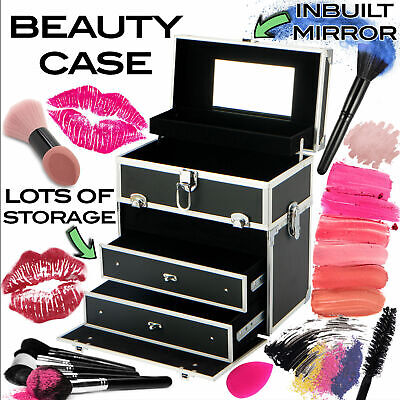 Portable Beauty Case Box Professional Makeup Case Cosmetics Carry Bag Organiser