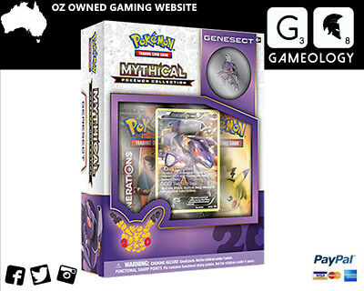 Pokemon TCG Mythical Pokemon Collection - Genesect Pin Box