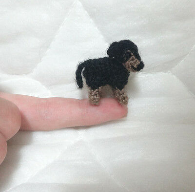 HANDMADE STUFFED CROCHET DOG - Mini Amigurumi Crochet Dog – Toy or Collectible