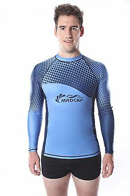 MADCAP Mens Rashie Long Sleeve Rash Vest Surf Swim Shirt UPF 50+ Sunshirt