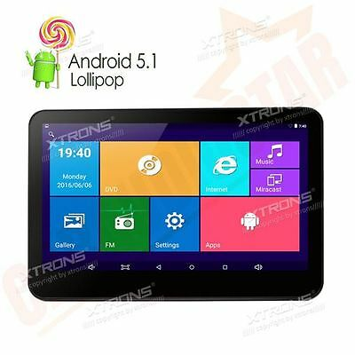"XTRONS Android 5.1 10.1"" HDMI Touch Screen Slim Headrest Car DVD Player Monitor"