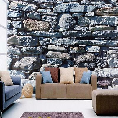 3D Brick Wall Stone Rock Wallpaper Modern Mural Roll Bedroom TV Background Decor