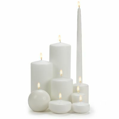 White Clean Burning Wax Candles
