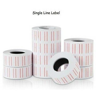 5PCS Pricing Price Tag Gun Labels Rolls Paper Mark Sticker For MX-5500 Labeller