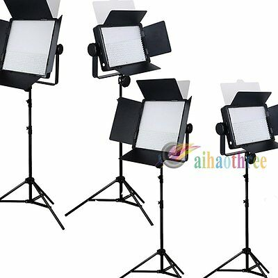 4Pcs GODOX LED500 + LED1000 White Version LED Studio Light + Lighting Stand【AU】