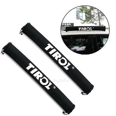 2pcs Inflatable Padded Car Roof Rack Ski Pads Crossbar Cover Oxford