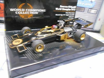 F1 LOTUS Ford Cosworth 72 Weltmeister 1972 #6 Fittipaldi JPS loo Minichamps 1:43