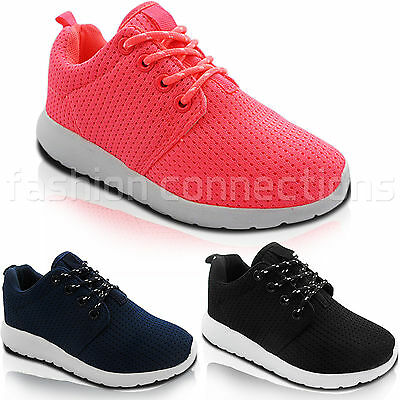 New Girls Boys Childrens Lace Up Light-Weight Trainers Sneaker Pumps Shoes Size
