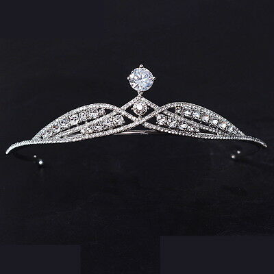 3.5cm High Full Crystal Elegant Wedding Bridal Prom Pagent Crystal Tiara