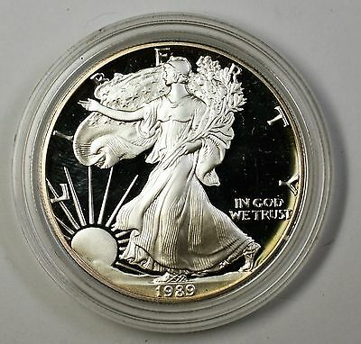1989-S Proof American Silver Eagle $1 Coin ASE 1 Troy Oz .999 Fine No Box or COA