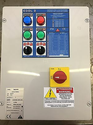230v twin submersible pump control panel, with high level alarm output 2.2kW max