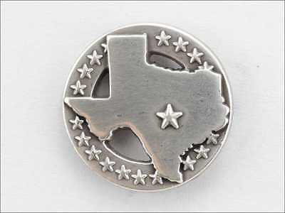 Lot Of 5 Pcs Concho Texas State With Star Silver Finish New 10-1007