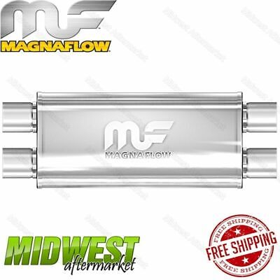 "Magnaflow Stainless Steel 3"" Dual In 3"" Dual Out Straight Through Muffler"