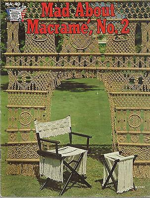 Vintage Mad About Macrame Pattern Book No.2 Director's Chair,curtain,hangers ++