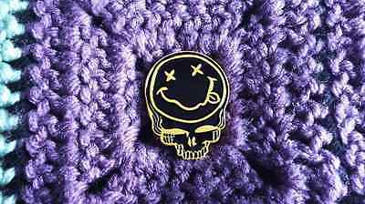 10 Pack Dead Head Steal Your Grunge Band 90's Music Smiley Face Skull Enamel Pin