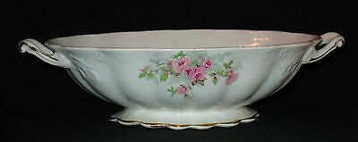 Antique Desoto Pattern Open Oval Serving Bowl Roses E.palestine, Ohio W.s. Geo.