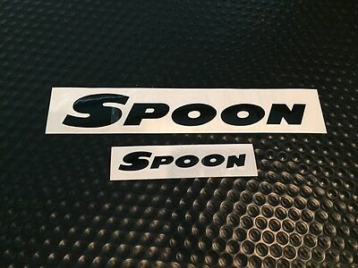 Spoon Sports Team Sticker Decal Black 200Mm/100Mm Genuine From Spoon Japan