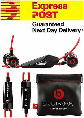 ORIGINAL Monster Beats by Dr Dre iBeats In-Ear Headphones for Apple iPhone-Black