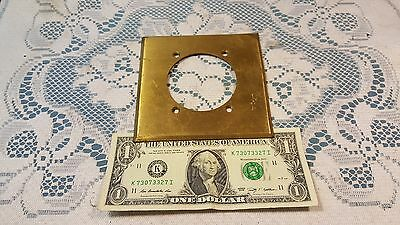 """Vintage Harvey Hubbell 4 1/2"""" Brass Wall Plate 2 3/8"""" hole"""