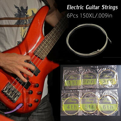 6pcs Brass Electric Acoustic Folk Guitar Strings Set Musical Instruments string