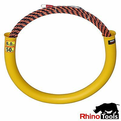 50 metre X 6mm Conduit snake  700kg breaking Strength  Cable puller rodder tube