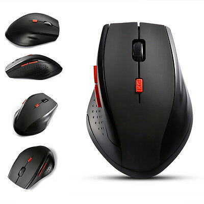 2.4GHz Cordless Wireless Optical Mouse Mice for Laptop Computer+USB Receiver