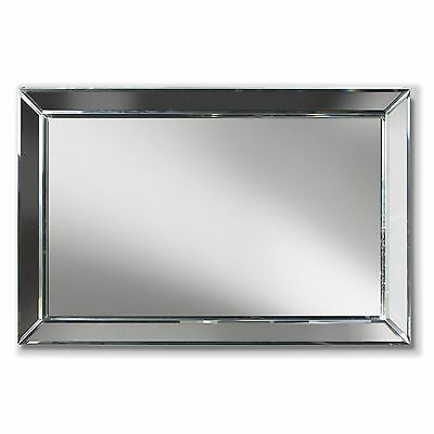 "33"" Glass Beveled 3-D Rectangle Wall Mirror"