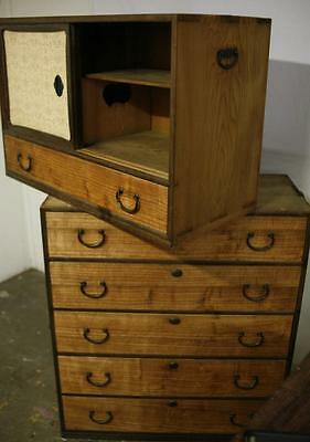 Antique Japanese Chest of Drawers Cabinet