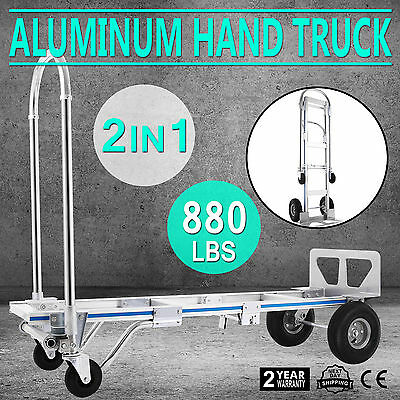 Vevor 2 in 1 Aluminum Hand Truck Dolly Utility Cart  880lb capacity for you