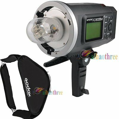 Godox AD600BM 600W HSS 1/8000s Studio Flash Strobe Light +80x80cm Softbox Bowens