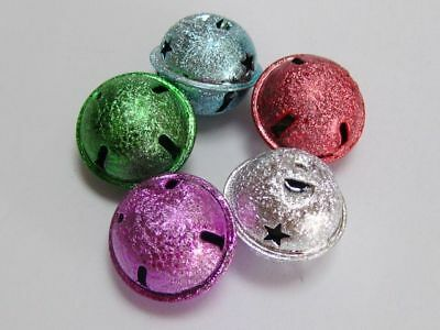 20 Glitter Ball JINGLE BELLS~ Mixed Color~Charms 20mm