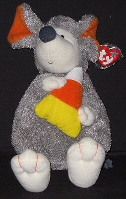 TY HALLOWEEN RATZO  the RAT with CANDY CORN BEANIE BUDDY - MINT with MINT TAGS