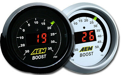 Aem #30-4406 Digital Display Boost Turbo Pressure Gauge 35 Psi