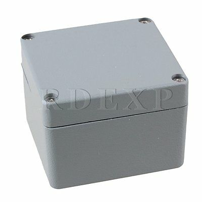 80x75x58mm Gray Metal IP66 Waterproof Wire Box Electric Project Case