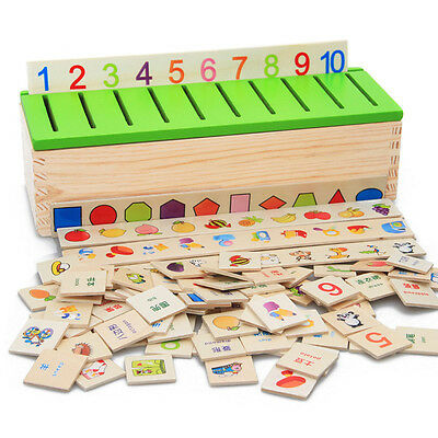 Classification Box Children Kids Early Learning Educational Wooden Game Math Toy