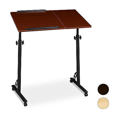 Laptop Table Large Height Adjustable Podium Lecturn w/ Wheels Sofa Table Lapdesk