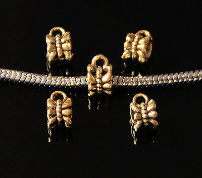 50/300X Ancient Gold Necklace Connector Tibetan Spacer Beads Jewelry Finding 7mm