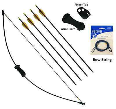 Petron Stealth Archery Bow Kit Medium With Extra Arrows and medium bow String