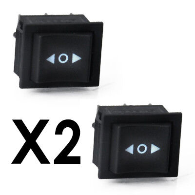 2pcs x 6 Pin DPDT ON-OFF-ON 3 Position Boat Rocker Switch 15A/250V 20A/125V AC