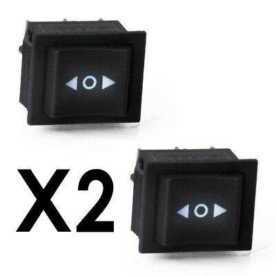 2x 6 Pin DPDT ON-OFF-ON 3 Position Boat Rocker Switch 15A/250V 20A/125V AC