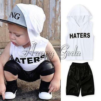 2pcs Toddler Infant Kids Baby Boys Hoodie T-shirt Tops+Pants Outfits Clothes Set