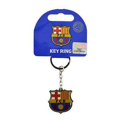 Official Licensed Football Club FC Barcelona Metal Crest Key Ring Keyring Gift