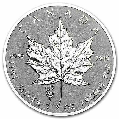 New 2013 Canadian Silver Maple Leaf & Snake Privy 1oz .9999 Pure Silver Coin