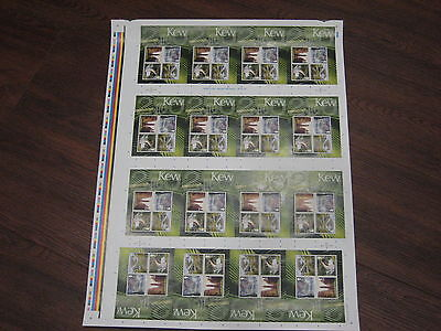 Press Sheet 2009 Kew Gardens Miniature Sheet  Uncut Sg Ms2941 Mnh Royal Mail