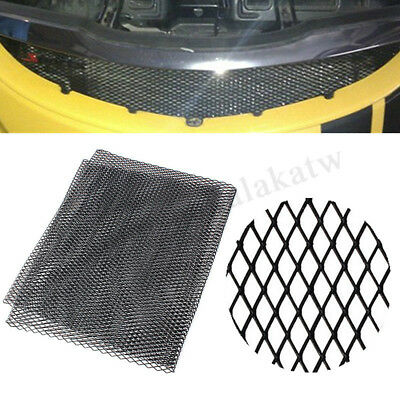"""40""""x13"""" Aluminium Racing Grille Mesh Vent Car Tuning Grill Section Black/Silver"""