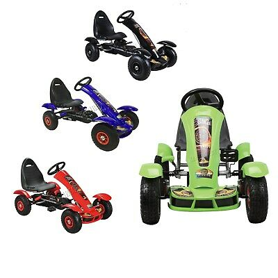 FoxHunter Kids Go Kart Ride On Car Pedal With Rubber Wheels Adjustable Seat G03
